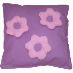 Malý polštář 3x kytka růžová