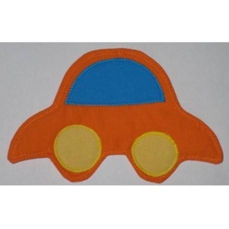 Textilní dekorace Autíčko oranžové